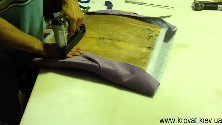 Обиваем тканью сидение