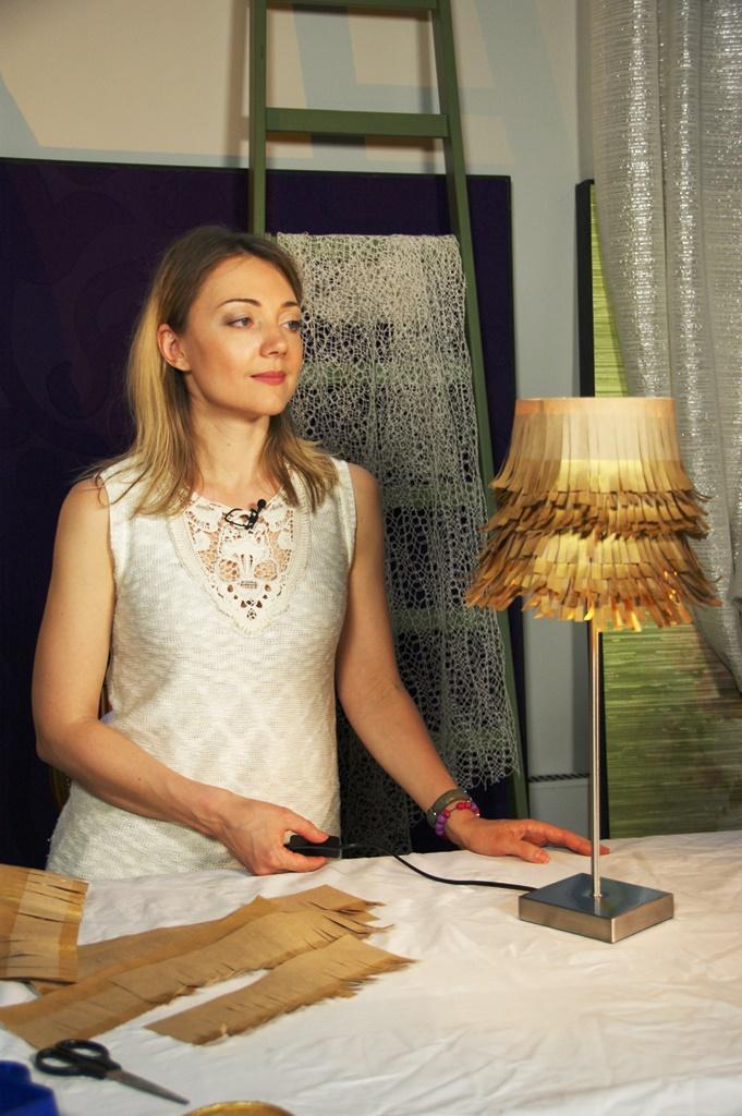 Делаем настольную лампу сприменением крафтовой бумаги