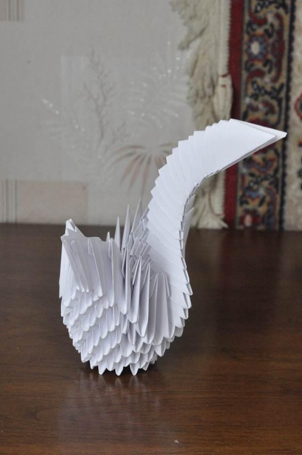 Бумажный лебедь своими руками