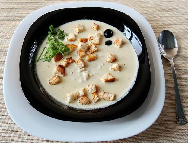 рецепт с фото супа с копченым плавленным сыром