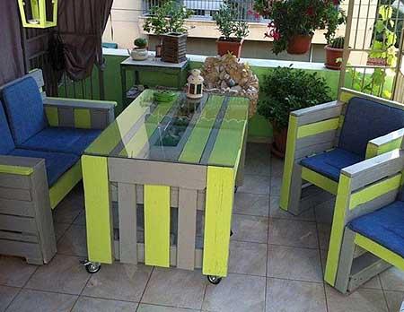 Меблі для дачі з будівельних піддонів (палет) - майструємо самі