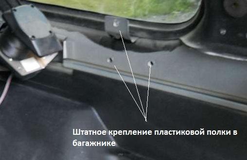 чертежи багажника
